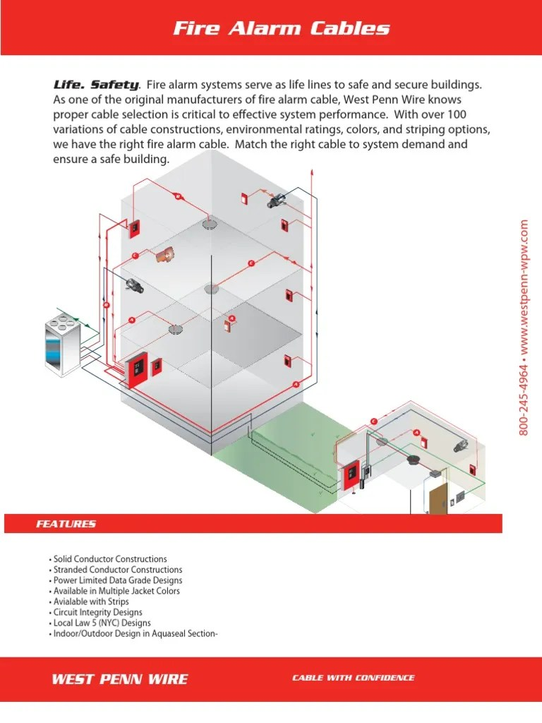 hight resolution of fire alarm cable installation