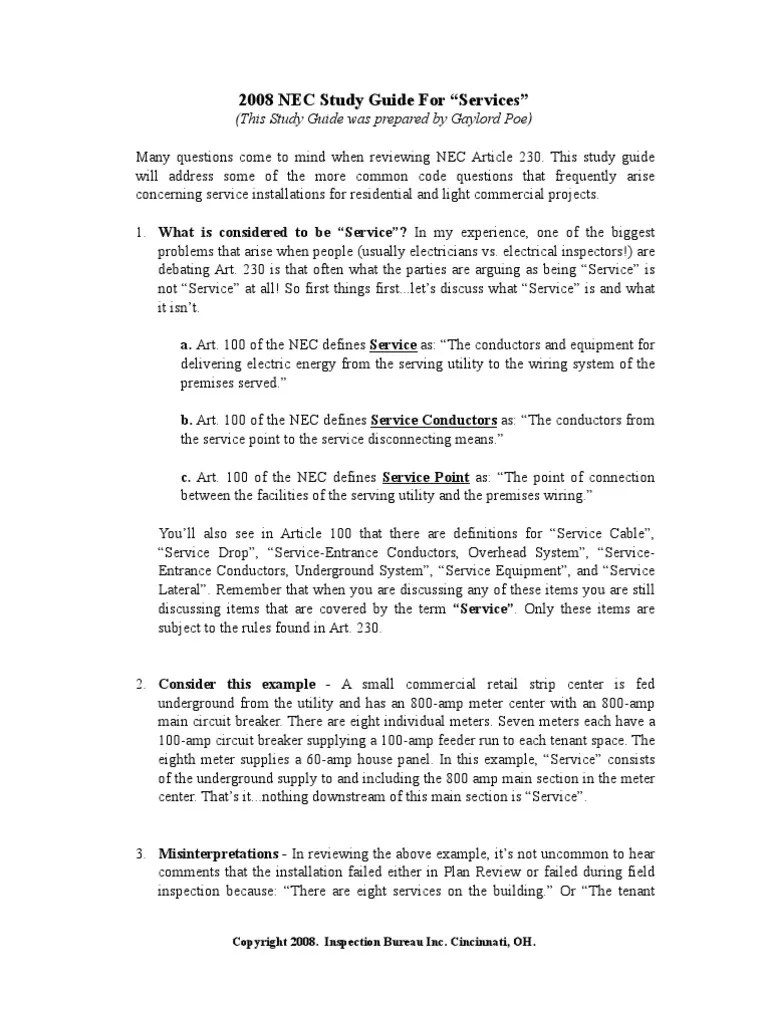 hight resolution of electrical plan review study guide 2008