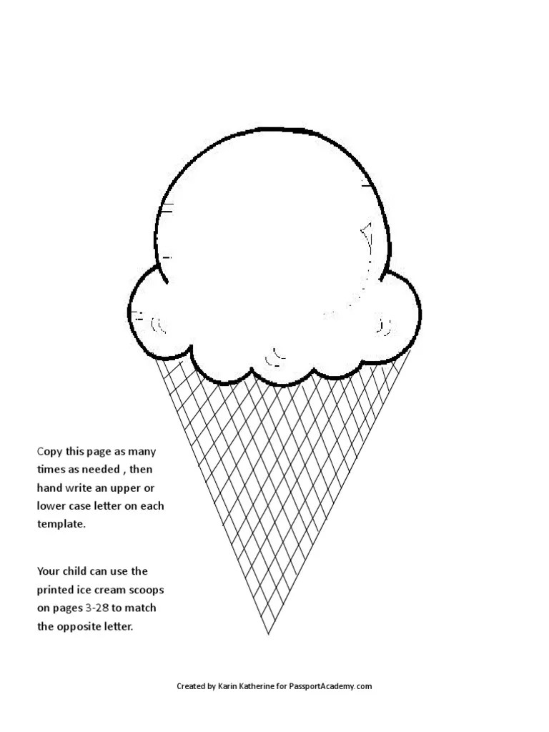 Ice Cream Scoop Template2