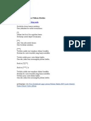 Download Lagu Tertulis Indah Raut Wajahmu Dalam Benakku : download, tertulis, indah, wajahmu, dalam, benakku, Lirik, Lavina, Pilihan, Hatiku