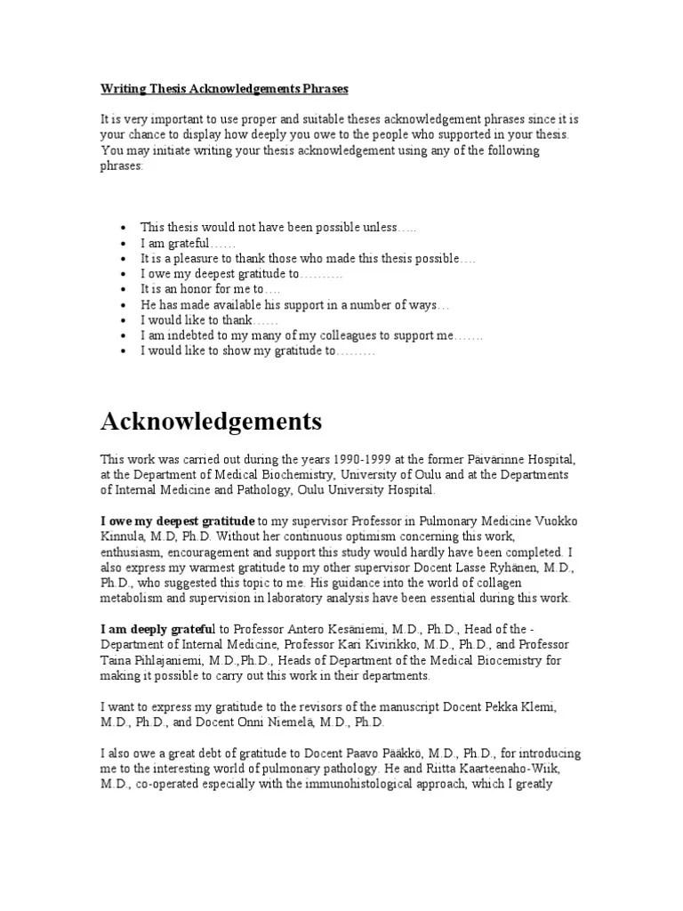 Best Phd Thesis Acknowledgements Research Paper Help Jnpapermkkc