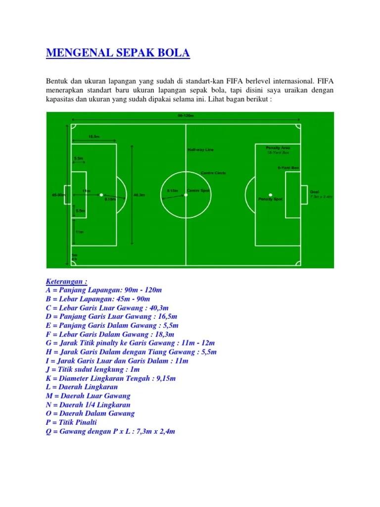 Lapangan Sepak Bola Dan Keterangan : lapangan, sepak, keterangan, Mengenal, Sepak