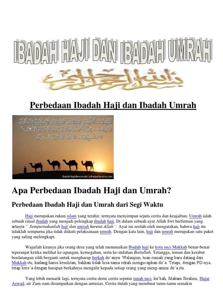 Perbedaan Rukun Haji Dan Umroh : perbedaan, rukun, umroh, Perbedaan, Ibadah, Umrah, Waktu
