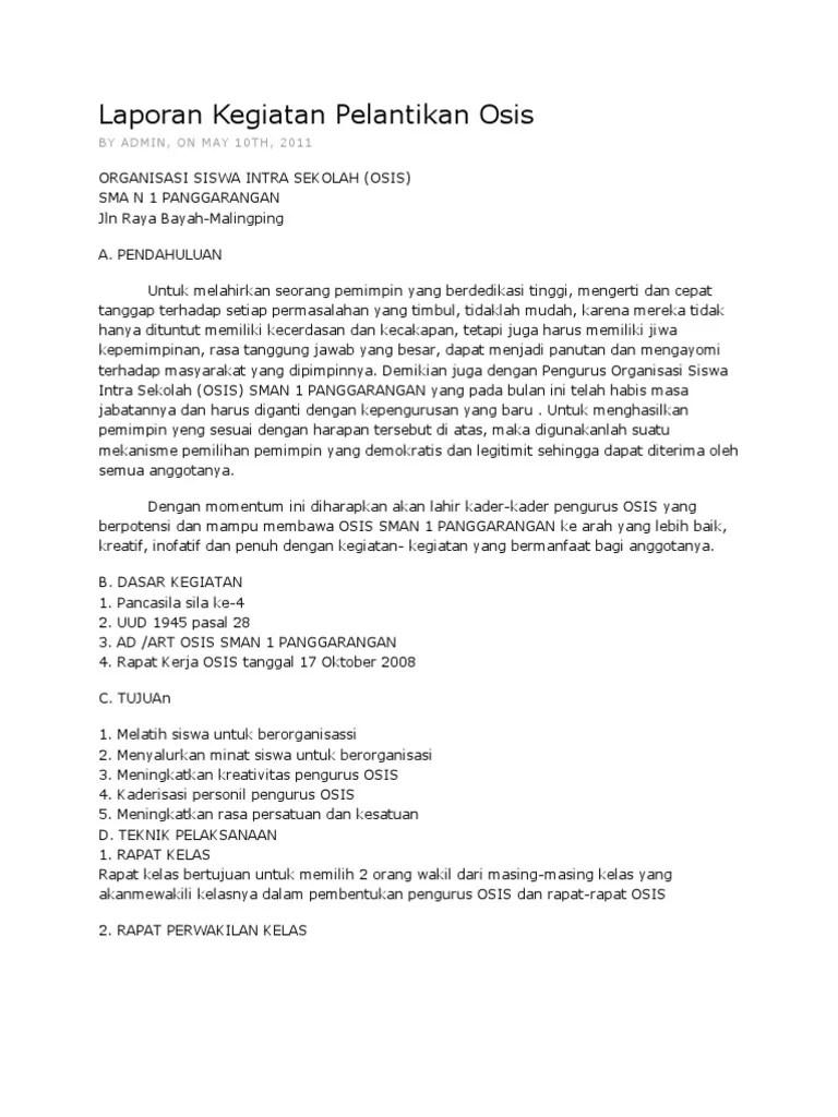 Contoh Laporan Kegiatan Bahasa Sunda Tentang Perpisahan Descar 0 Cute766