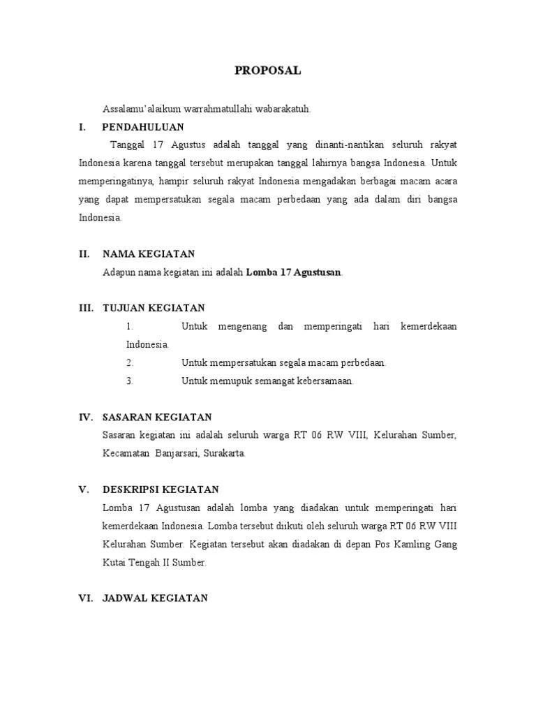 Contoh Penutup Proposal Kegiatan 17 Agustus : contoh, penutup, proposal, kegiatan, agustus, Proposal, Agustusan