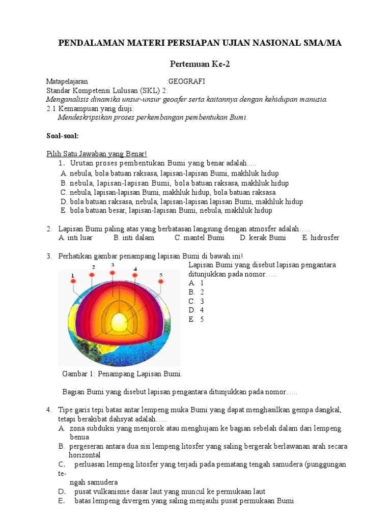 Soal Lapisan Bumi Ipa Kelas 7 : lapisan, kelas, Latihan, Lapisan