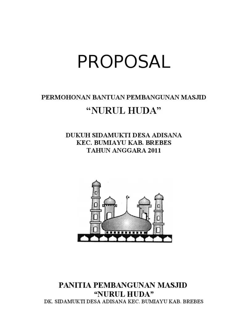 Proposal Masjid Doc : proposal, masjid, Contoh, Proposal, Rehab, Masjid