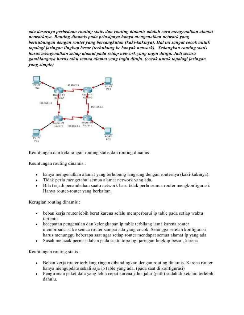 Perbedaan Ip Statis Dan Dinamis : perbedaan, statis, dinamis, Perbedaan, Routing, Static, Dengan, Dinamis