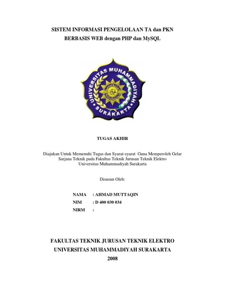 Contoh Proposal Sistem Informasi Manajemen Rumah Sakit