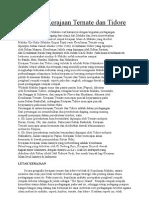 Kehidupan Politik Kerajaan Tidore : kehidupan, politik, kerajaan, tidore, Kehidupan, Politik, Kerajaan, Ternate, Tidore, Dengan