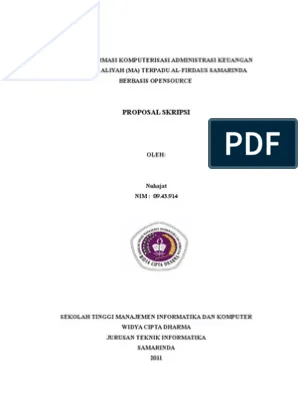 Skripsi Teknik Informatika Pdf : skripsi, teknik, informatika, Proposal, Skripsi, Teknik, Informatika, Nuhajat@gmail.com