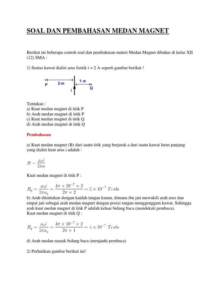 Medan Magnet Kelas 12 : medan, magnet, kelas, Pembahasan, Medan, Magnet
