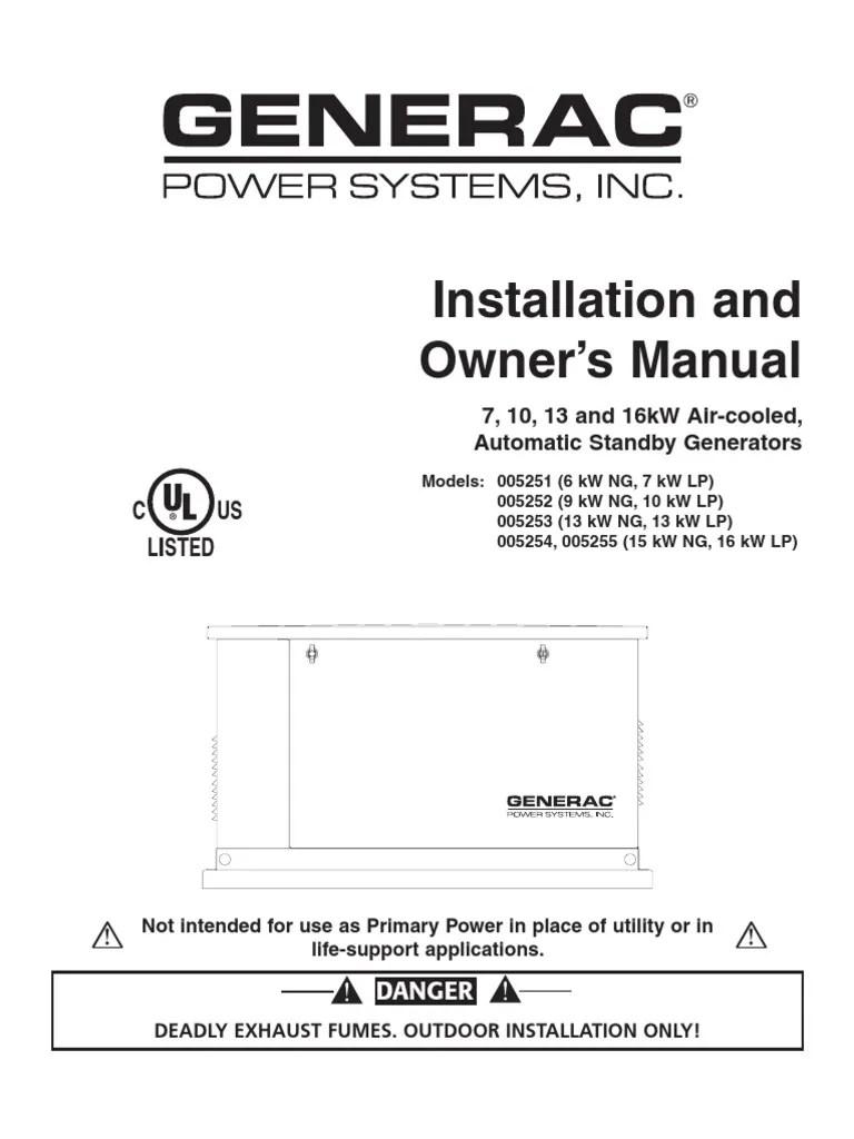 hight resolution of generac generator specification