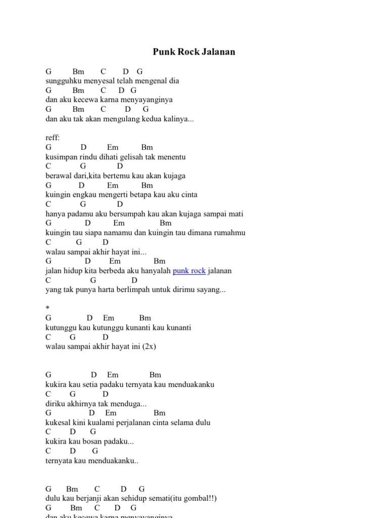 Chord Gitar Punk Rock Jalanan : chord, gitar, jalanan, Jalanan
