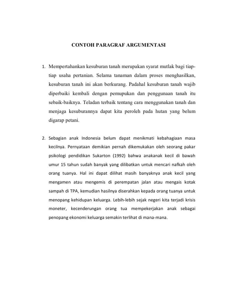 Contoh Paragraf Argumentatif : contoh, paragraf, argumentatif, Contoh, Paragraf, Argumentasi, Cute766