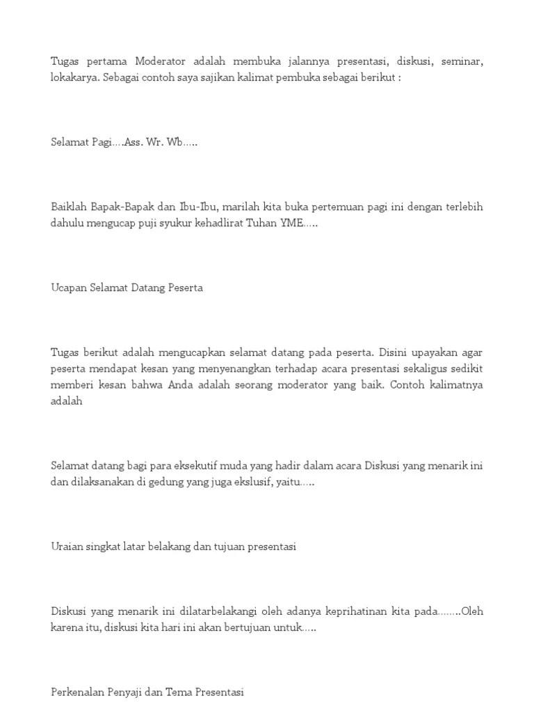 Teks Moderator Presentasi Dalam Bahasa Inggris Dan Artinya Berbagai Teks Penting Cute766
