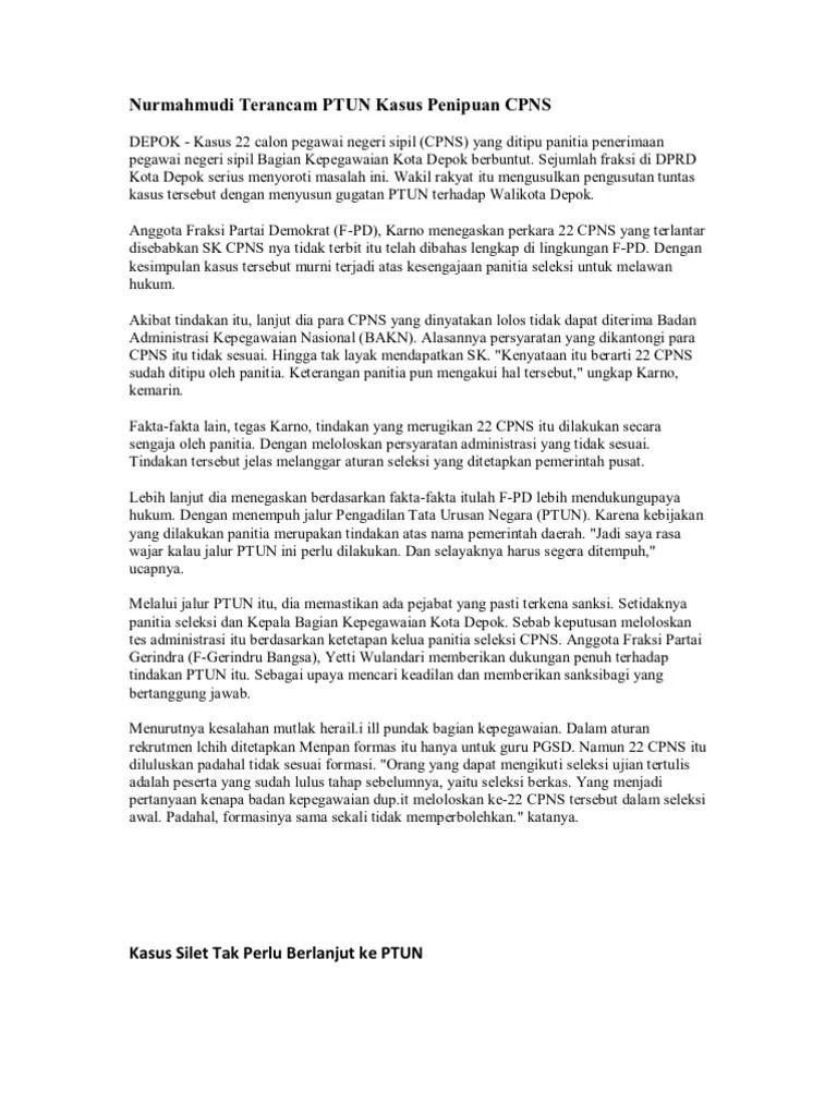 Contoh Surat Gugatan Ptun Pemberhentian Kepala Desa Gudang Surat Cute766