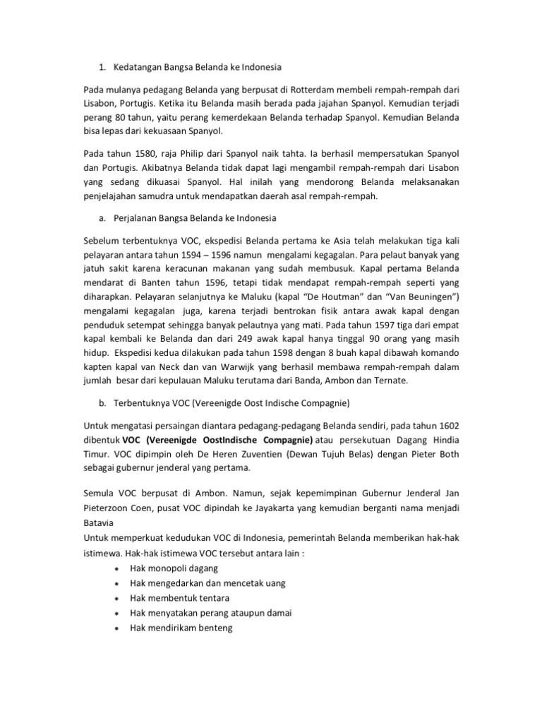 Kedatangan Bangsa Belanda Di Indonesia : kedatangan, bangsa, belanda, indonesia, Kedatangan, Bangsa, Belanda, Indonesia