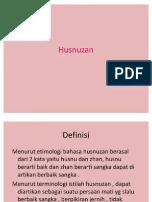 Pengertian Husnuzan Menurut Bahasa Dan Istilah : pengertian, husnuzan, menurut, bahasa, istilah, Husnuzan