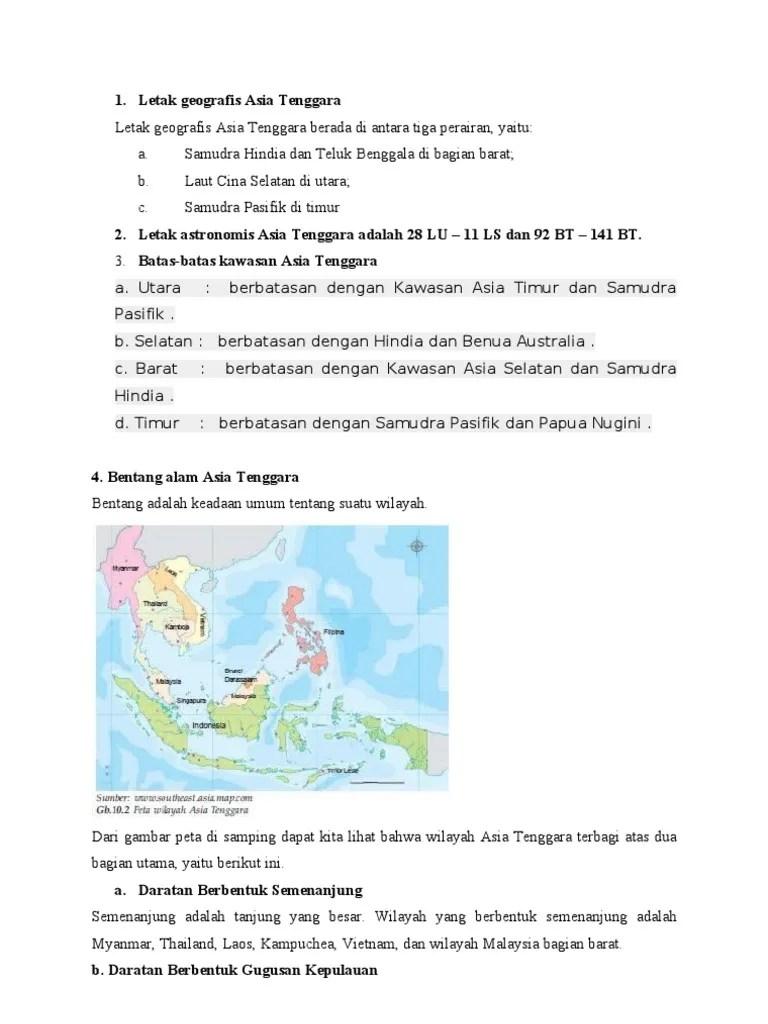 Jelaskan Letak Geografis Benua Asia : jelaskan, letak, geografis, benua, Letak, Geografis, Tenggara