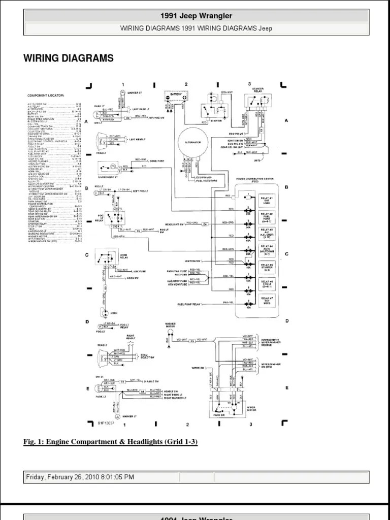 jeep wrangler tj wiring diagram front suspension 1995 data schema 92 yj resultado de imagen para conectar rele lifted