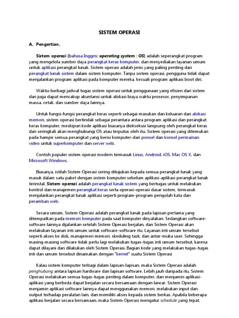 Contoh Perangkat Lunak Sistem Operasi : contoh, perangkat, lunak, sistem, operasi, SISTEM, OPERASI