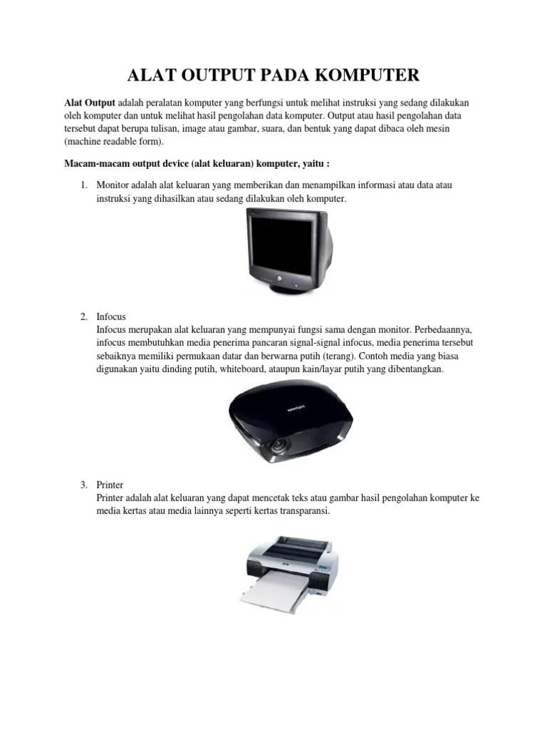 Macam Macam Output Device : macam, output, device, Output, Komputer