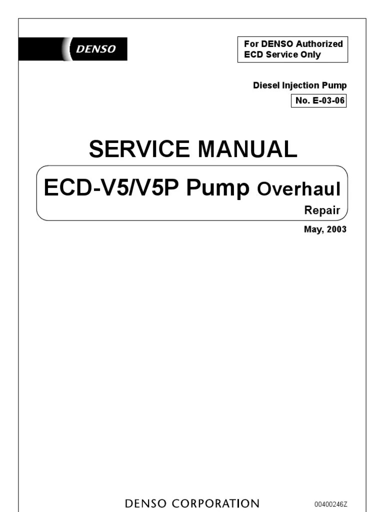 Ve Pump Denso Repair Manual