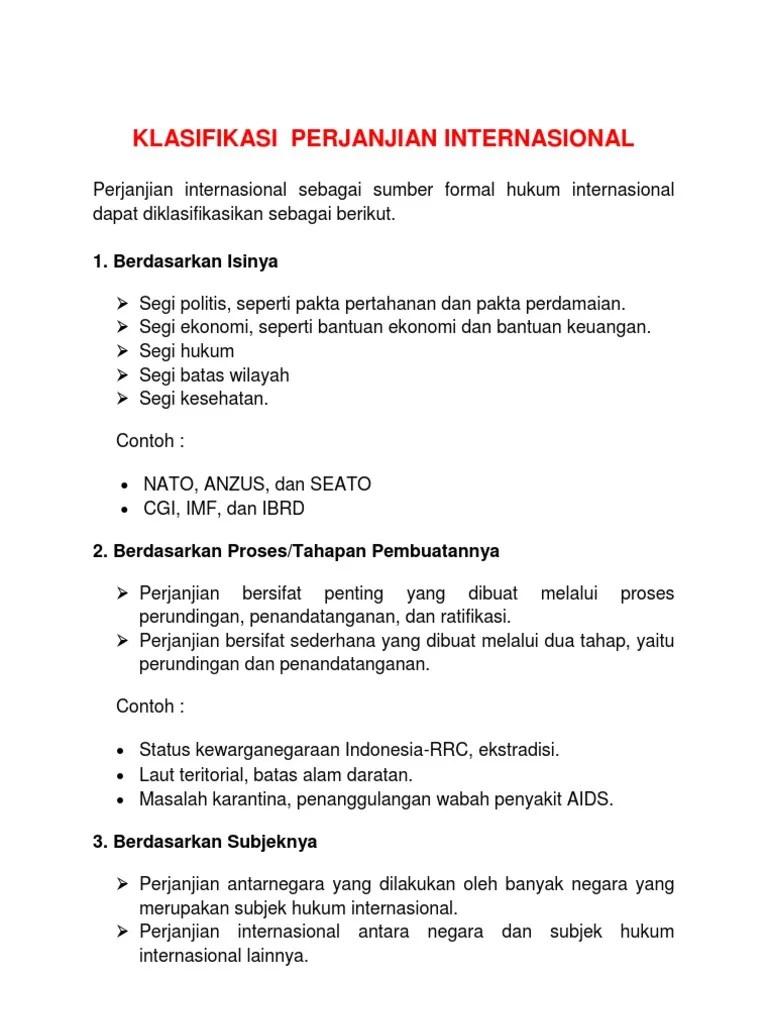 Klasifikasi Perjanjian Internasional : klasifikasi, perjanjian, internasional, Revisi