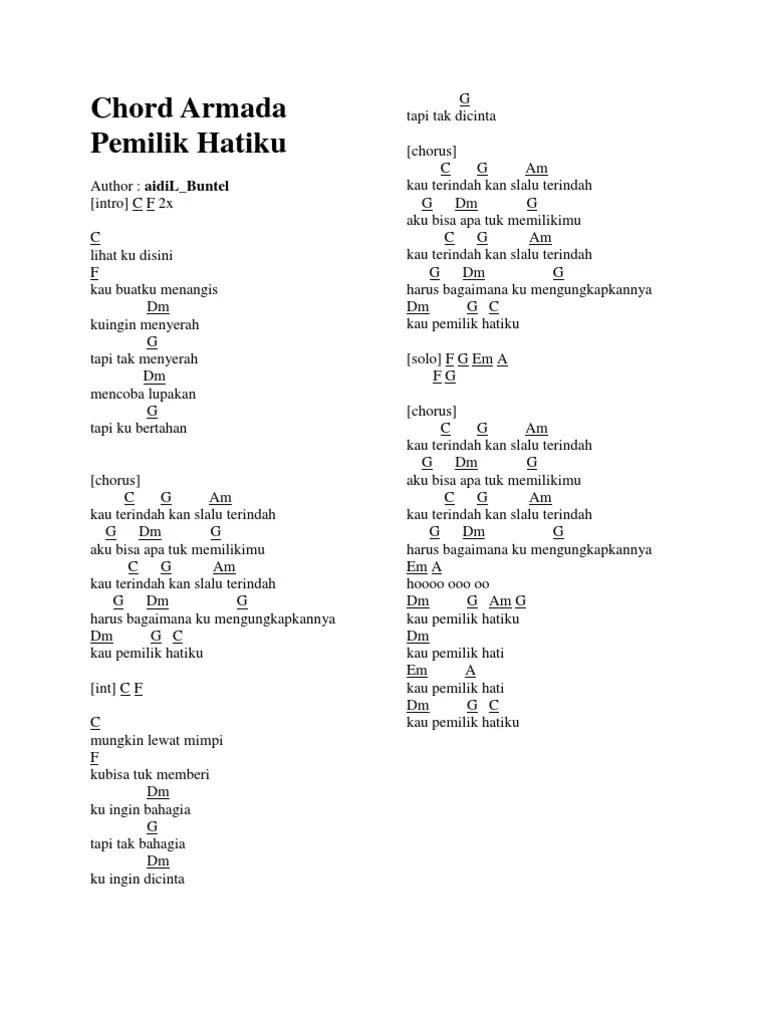 Chord I Will Armada : chord, armada, Chord, Armada, Pemilik, Hatiku