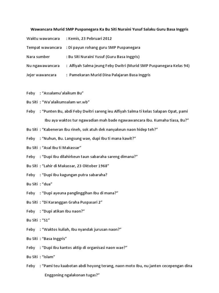 Contoh Wawancara Bahasa Sunda : contoh, wawancara, bahasa, sunda, Materi, Bahasa, Sunda, Wawancara, Cute766