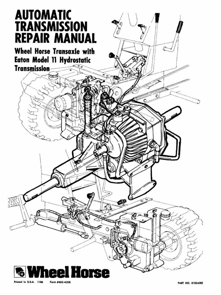 medium resolution of eaton 11 wheel horse automatic transmission service manual transmission mechanics axle