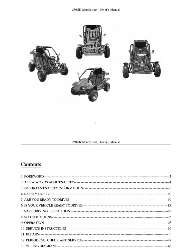 9 kinroad xt250gk sahara 250cc owners manual automatic dune buggy 250cc wiring diagram [ 768 x 1024 Pixel ]