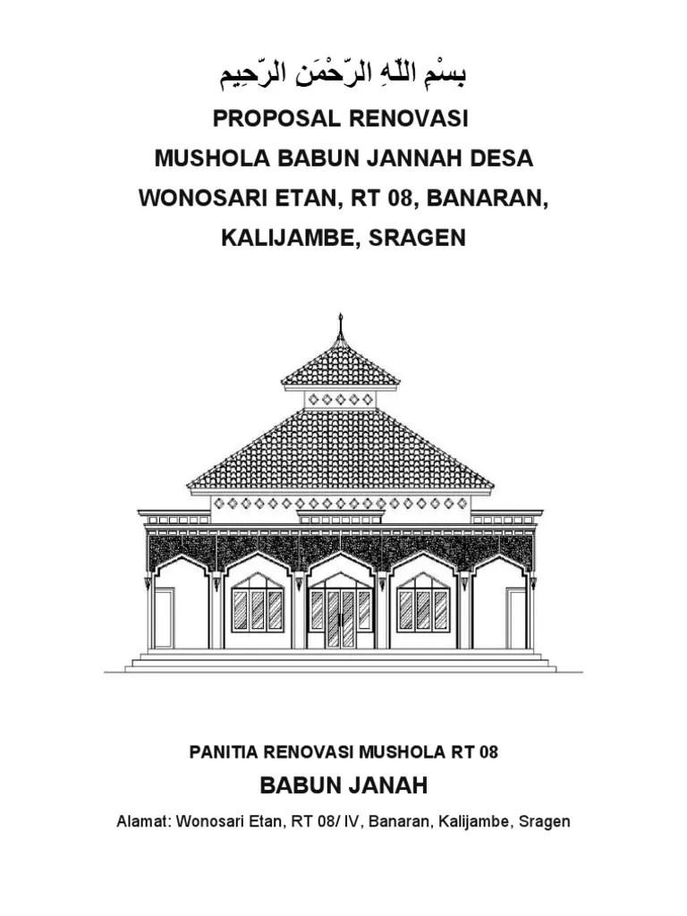 Proposal Penggalangan Dana Renovasi Musholla Al-ikhlas