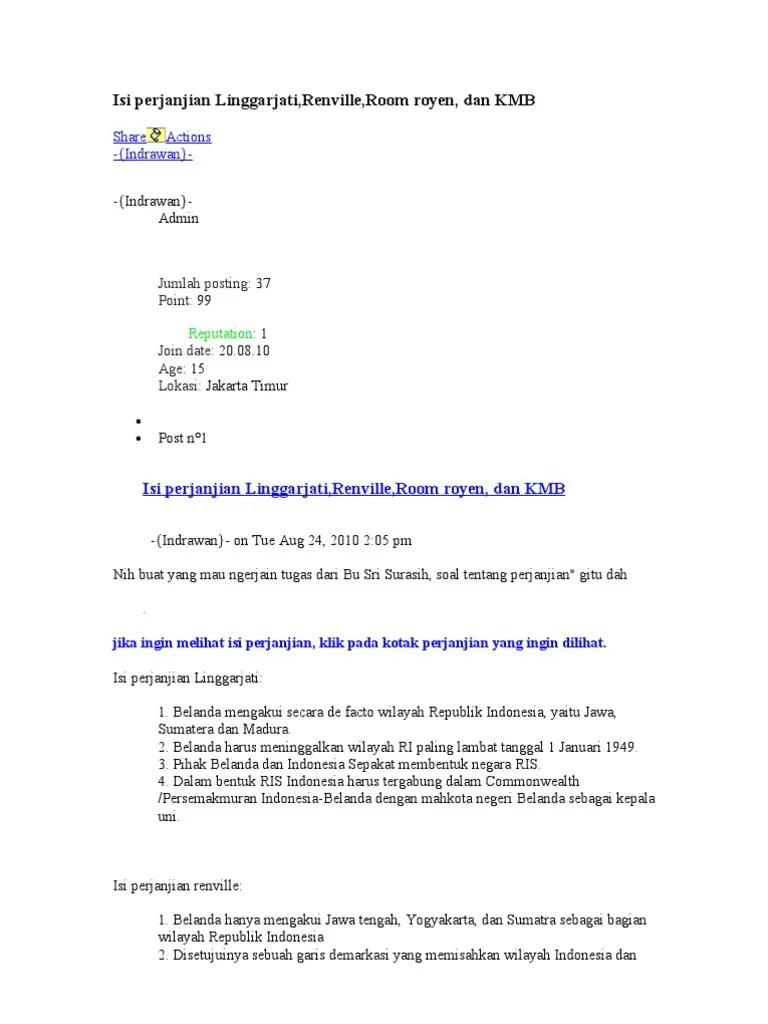 Isi Perjanjian Linggarjati : perjanjian, linggarjati, Perjanjian, Linggarjati