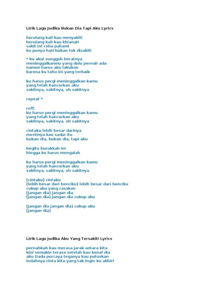 Lirik Bukan Dia Tapi Aku : lirik, bukan, Lirik, Judika, Bukan, Lyrics
