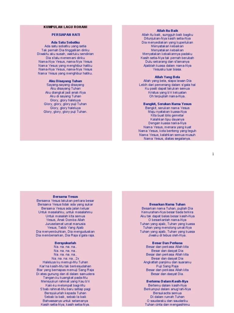 Lirik Lagu Besarkan Nama Tuhan : lirik, besarkan, tuhan, 79523306, Kumpulan, Lirik, Rohani