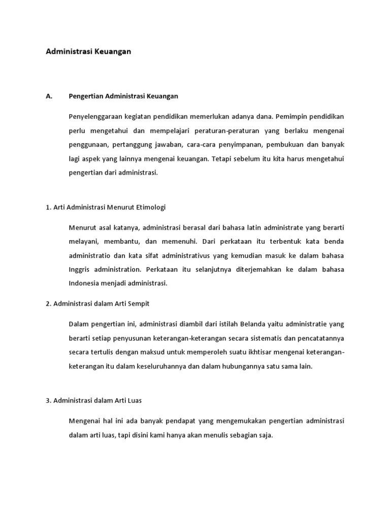 Administrasi Berasal Dari Bahasa : administrasi, berasal, bahasa, Administrasi, Keuangan