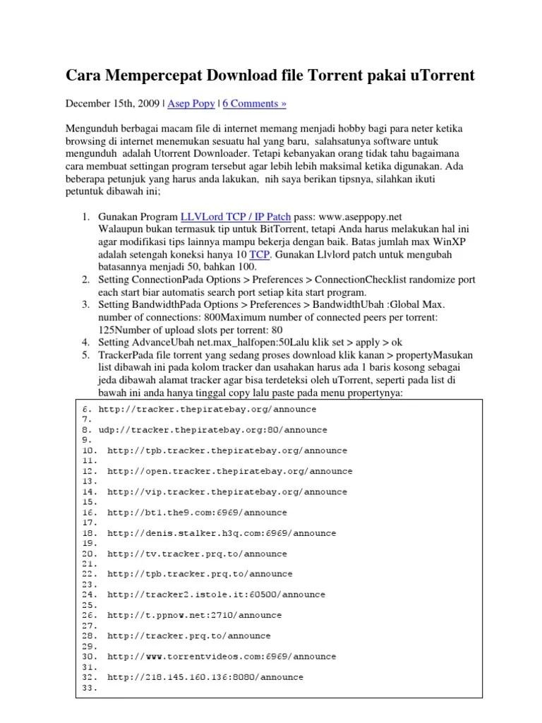 Cara Mempercepat Download Utorrent : mempercepat, download, utorrent, Mempercepat, Download, Torrent, Pakai, UTorrent