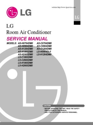 LG Split Type Air Conditioner Complete Service Manual