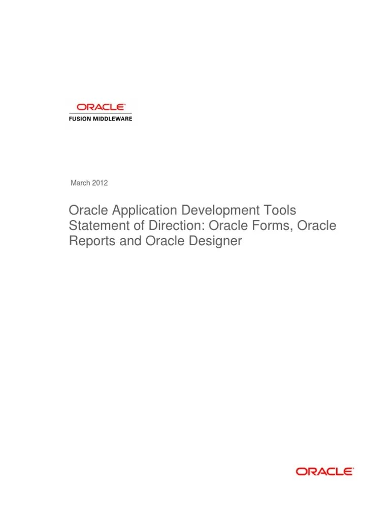sod oracle forms reports designer oracle corporation business intelligence [ 768 x 1024 Pixel ]