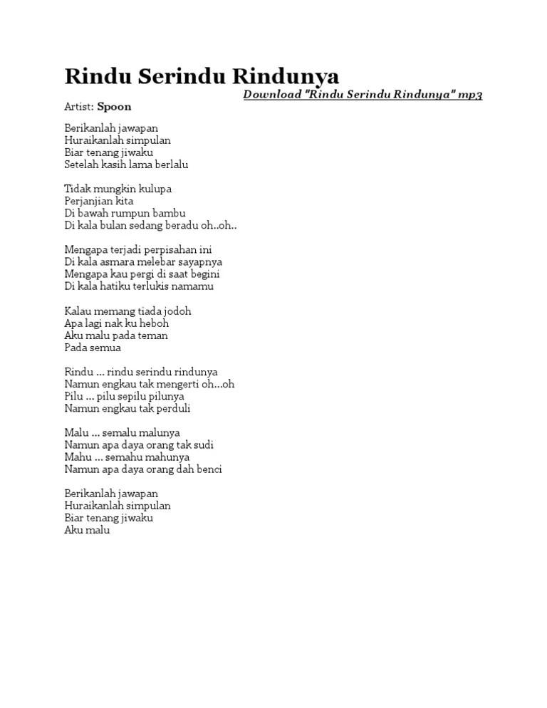 Lirik Lagu Rindu Serindu Rindunya : lirik, rindu, serindu, rindunya, Lirik, Mengapa, Terjadi, Perpisahan