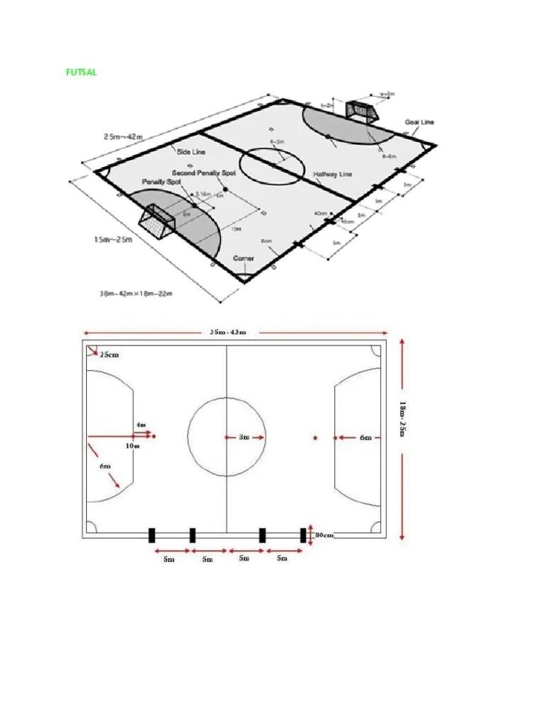 Gambar Lapangan Futsal Dan Ukurannya : gambar, lapangan, futsal, ukurannya, Gambar, Ukuran, Lapangan, Bola,Basket,Voly,Futsal
