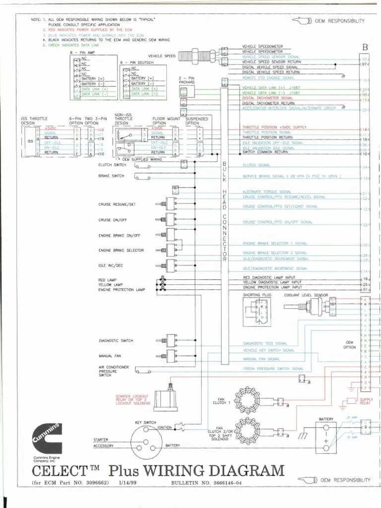 freightliner engine wiring diagrams l10 m11 n14 fuel injection throttle on freightliner fl80 fuse panel diagram  [ 768 x 1024 Pixel ]