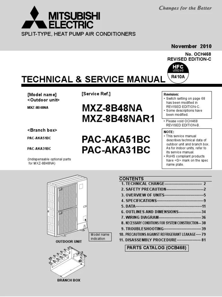 hight resolution of mitsubishi mxz 8b48na pacaka51bc service manual air conditioningmitsubishi mxz 8b48na pacaka51bc service manual air conditioning pump