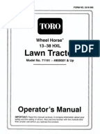Toro wheelhorse Demystification Electical wiring diagrams for all WheelHorse tractors   Inductor