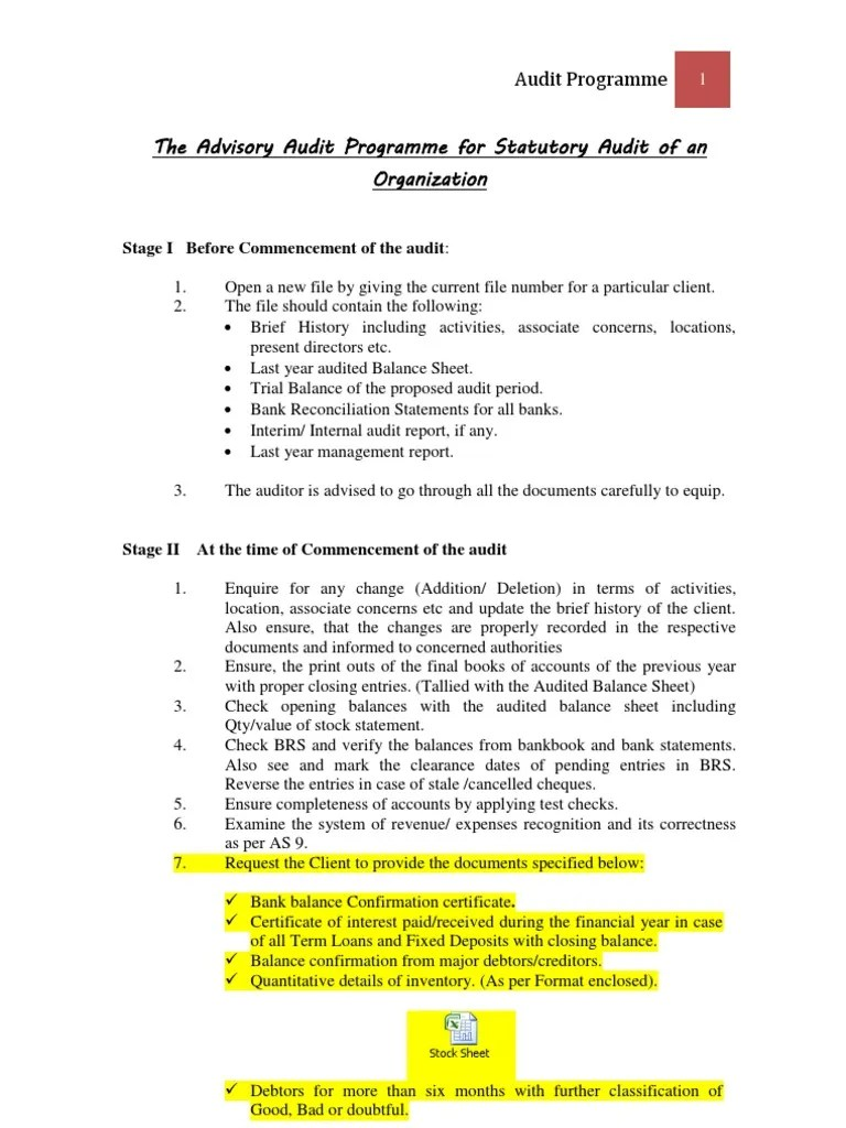 Statutory Audit Program | Debits And Credits | Expense