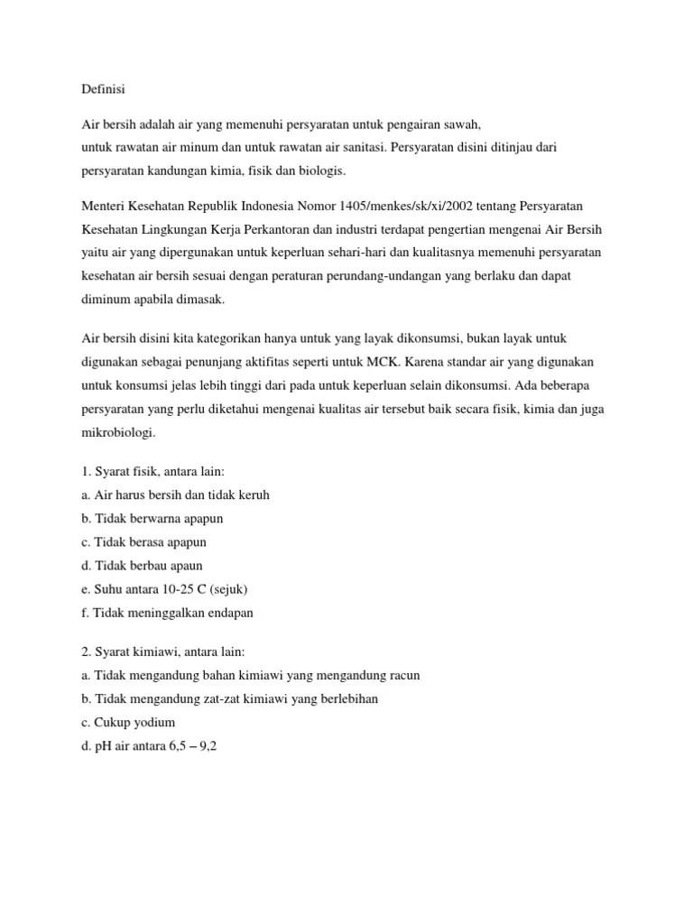 Tuliskan Syarat Fisik Air Bersih Layak Minum : tuliskan, syarat, fisik, bersih, layak, minum, Bersih, Harus, Memenuhi, Persyaratan, Secara, Fisik, Kimiawi, Mikrobiologi, Tuliskan