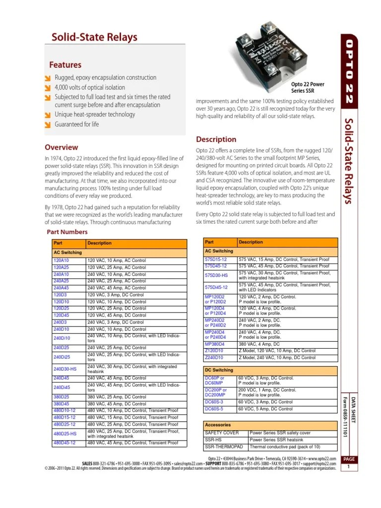 medium resolution of 0859 solid state relays data sheet relay series and parallel circuits