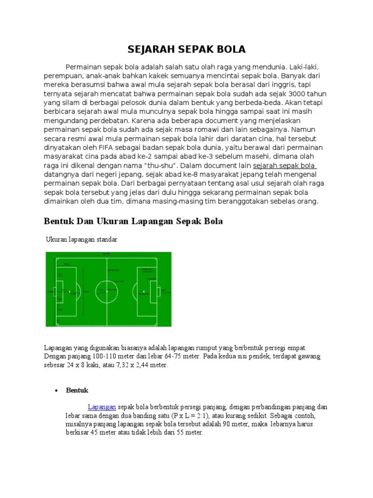Sejarah Sepak Bola : sejarah, sepak, Sejarah, Sepak